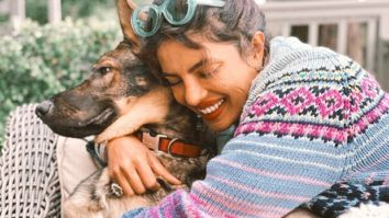 Priyanka Chopra Jonas cuddling with Gino the German shepherd is an image of every dog person ever!