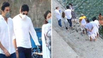 Ranbir Kapoor, Neetu Kapoor, Alia Bhatt bid adieu to Rishi Kapoor as they immerse his ashes