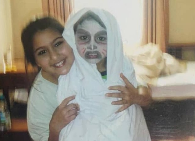 Sara Ali Khan shares a spooky picture with Ibrahim Ali Khan in his Halloween costume from their childhood