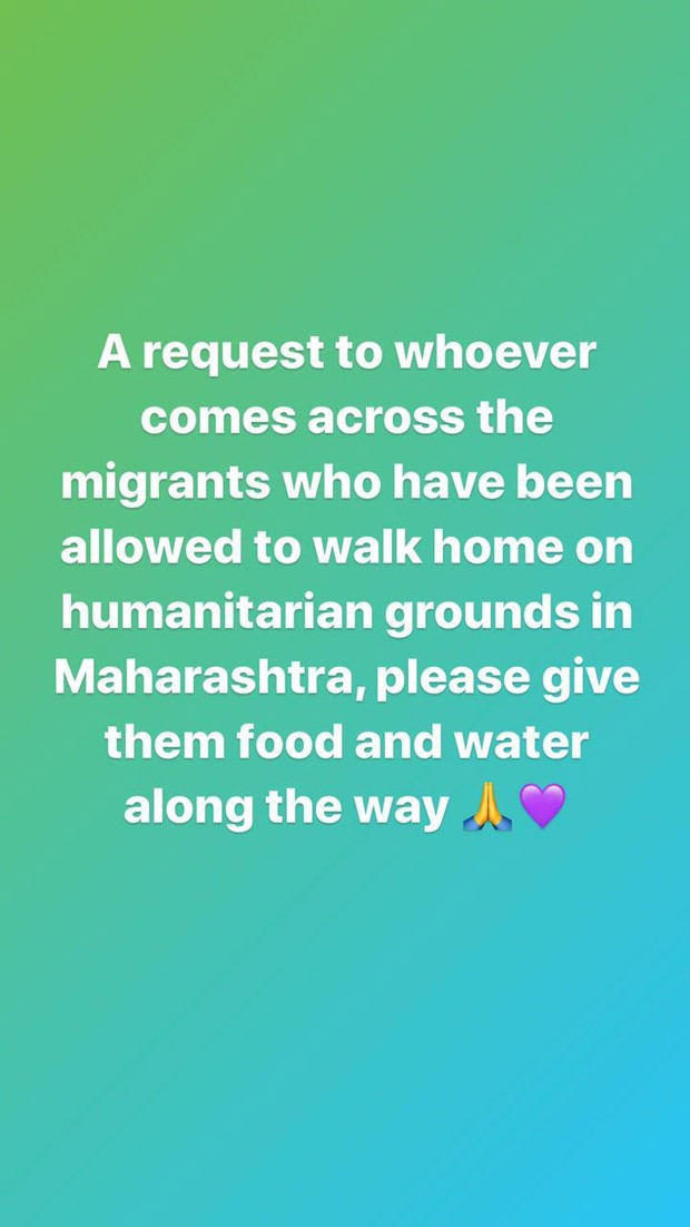 Shraddha Kapoor urges her followers to help migrants who are trying to get back home