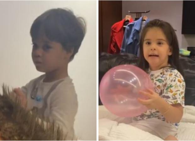 Watch: Karan Johar's twins Yash and Roohi name him Monkey