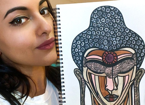 Sonakshi Sinha sketches 'The Enlightened One', shares video : Bollywood Information 7