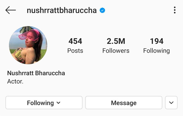 Nushrat Bharucha changes her spelling name to 'Nushrratt Bharuccha'