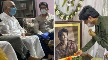 Shekhar Suman and Sandip Ssingh visit Sushant Singh Rajput's Patna home to meet his family