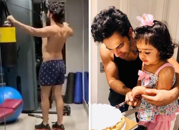 Varun Dhawan burns calories at the gym after binge eating cake during his niece's birthday