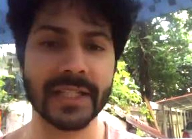Watch: Varun Dhawan turns weatherman as city witnesses' heavy rainfall