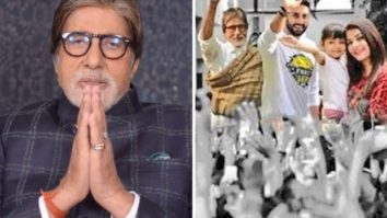 Amitabh Bachchan expresses gratitude; shares an edit with Abhishek Bachchan, Aishwarya Rai Bachchan, Aaradhya