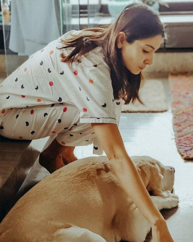 Anushka Sharma's picture perfect morning ritual with her pet dog leaves Virat Kohli in awe