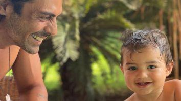 Arjun Rampal and Gabriella Demetriades share adorable moments on son Arik's first birthday