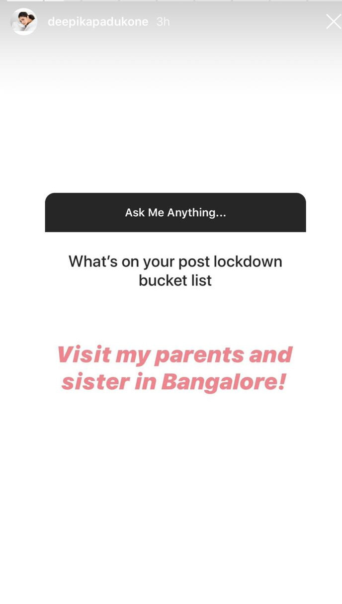 Deepika Padukone reveals her favourite character so far during the 'Ask Me' session on Instagram