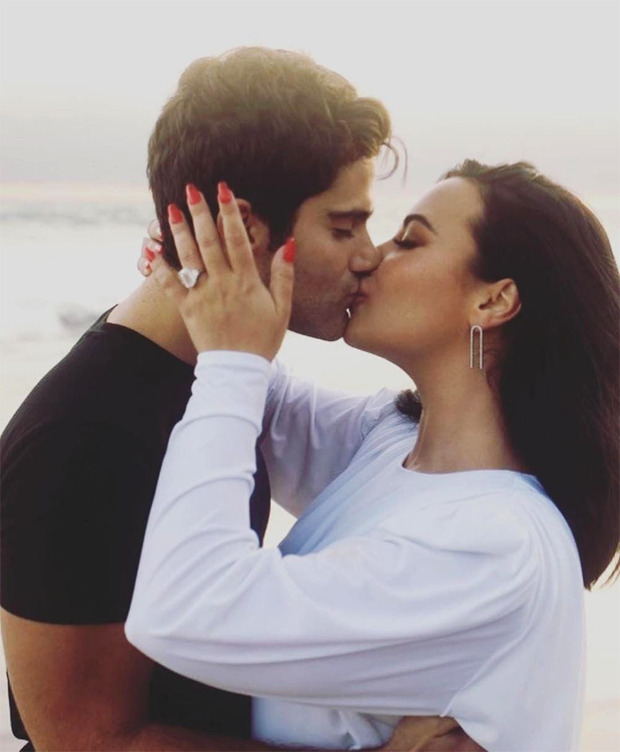 Demi Lovato shares her engagement joy