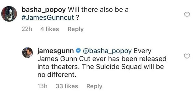 James Gunn confirms his version of The Suicide Squad will release in theatres