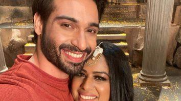 Naagin 4 Vijayendra Kumeria and Nia Sharma are all smiles as they post on the last day of shoot