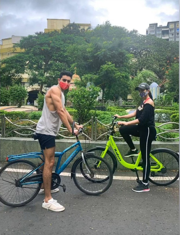 Sara Ali Khan and Ibrahim Ali Khan step out for bike ride with their masks on