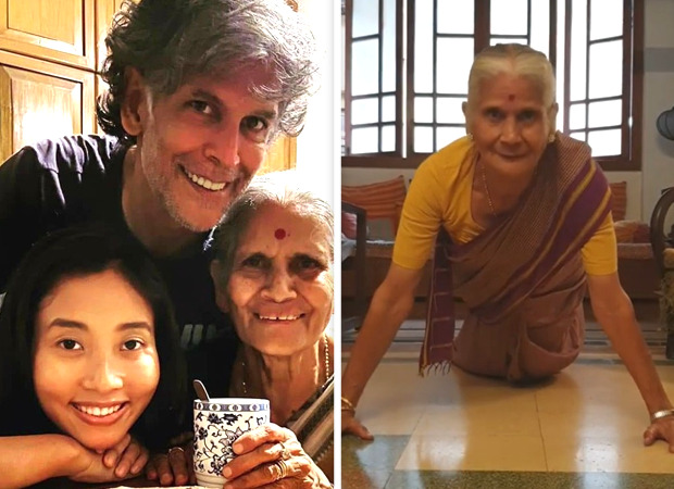 Milind Soman shares video of 81-year-old mother doing push ups; netizens call her a 'rockstar'