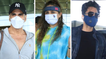 Akshay Kumar leaves for the UK with family, Huma Qureshi, Jackky Bhagnani and Bellbottom team