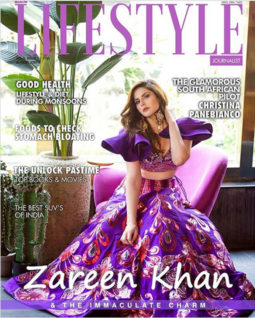 Zareen Khan on the cover of Lifestyle, Aug 2020