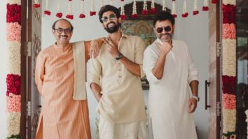 Rana Daggubati strikes a pose with father Suresh Babu and uncle Venkatesh ahead of his marriage with Miheeka Bajaj