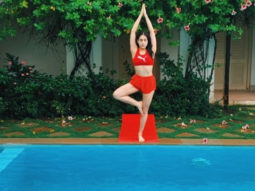 Sara Ali Khan enjoys yoga session by the swimming pool