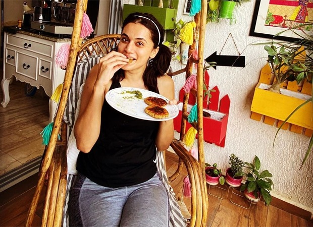 Taapsee Pannu gorges on carb-rich food for Rashmi Rocket prep