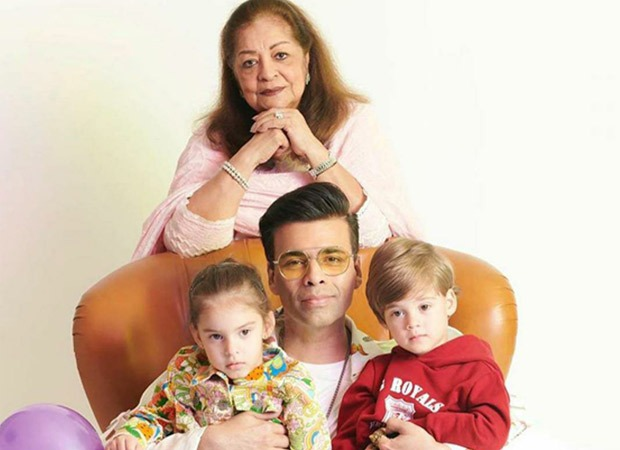 Karan Johar heads to Goa with his mother Hiroo Johar and twins Yash and Roohi