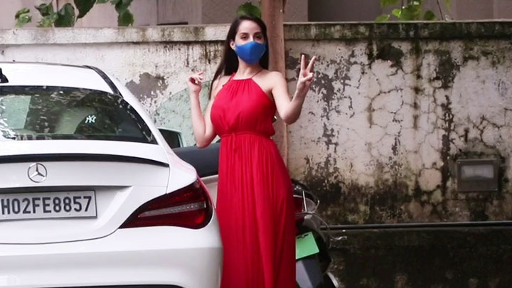 Nora Fatehi spotted in Bandra