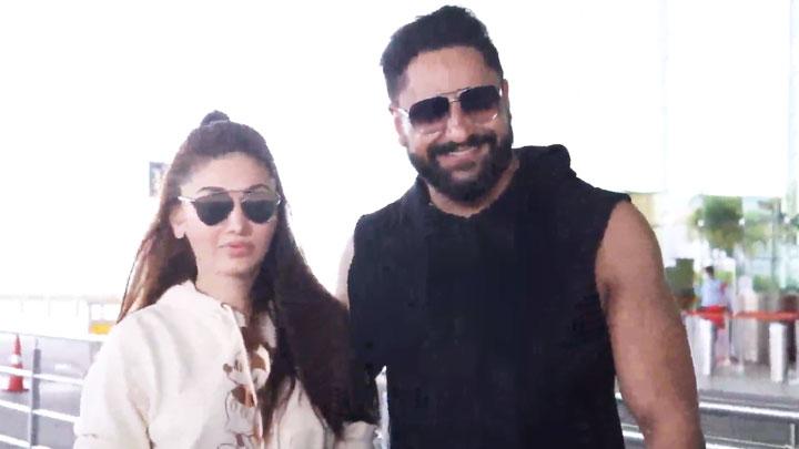 Shefali Jariwala spotted at the airport