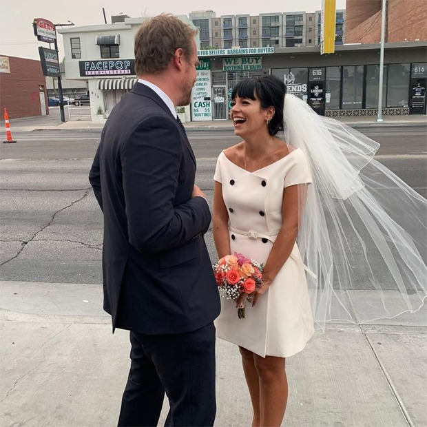 Lily Allen & David Harbour Get Marriage License in Vegas