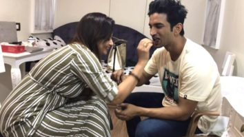 Sushant Singh Rajput celebrated Rakshabandhan with Mukesh Chhabra's sister on Dil Bechara sets, photos go viral