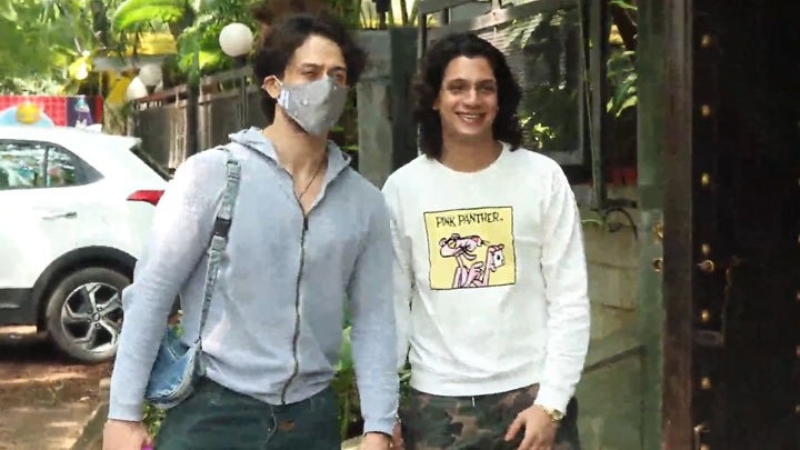 Tiger Shroff spotted At Avitesh Shrivastava's studio in Juhu