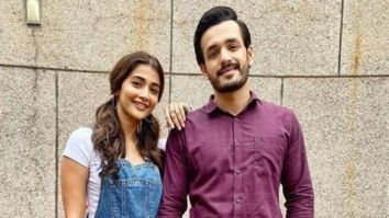 Pooja Hegde and Akhil Akkineni are the only two not social distancing on the sets of the romantic comedy Most Eligible Bachelor