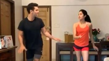 BTS video of Angad Bedi and Janhvi Kapoor rehearsing to 'One Two Ka Four' for a scene goes viral