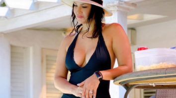 Sunny Leone enjoys the hot LA weather in a navy blue monokini