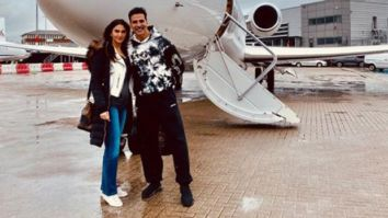 Akshay Kumar returns home after wrapping the shoot for Bell Bottom with co-star Vaani Kapoor