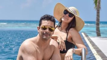 Angad Bedi and Neha Dhupia put on their best swim suits and smiles as they go vacationing in Maldives