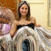 Bigg Boss 14's toofani senior Hina Khan celebrates 10 million followers on Instagram with balloons and cake