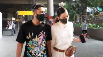 Gauahar Khan and Zaid Darbar spotted at Airport