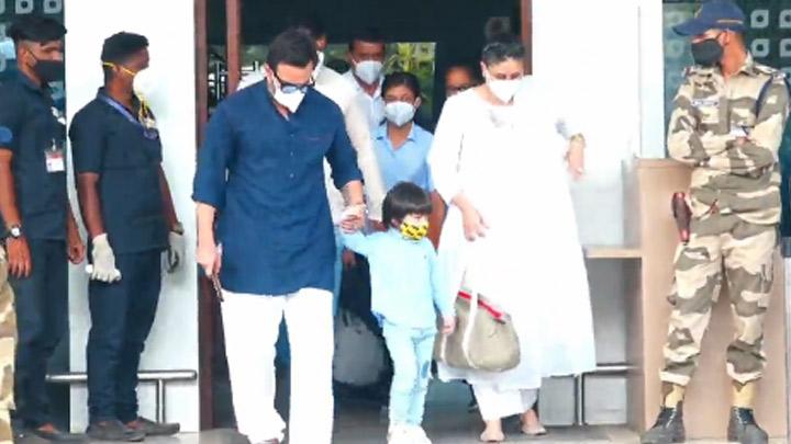 Kareena, Saif and Taimur spotted at Airport