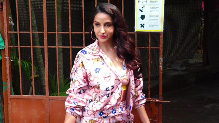 Nora Fatehi spotted at Versova