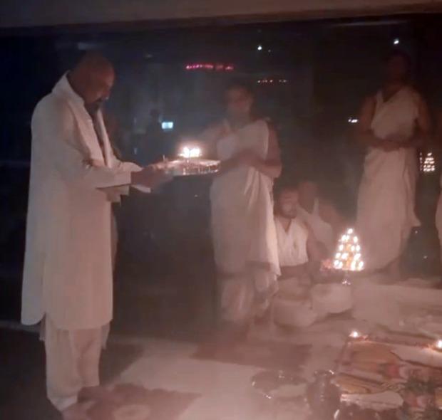 Sanjay Dutt performs puja on Dussehra, Maanayata Dutt pens a heartfelt post after his recovery