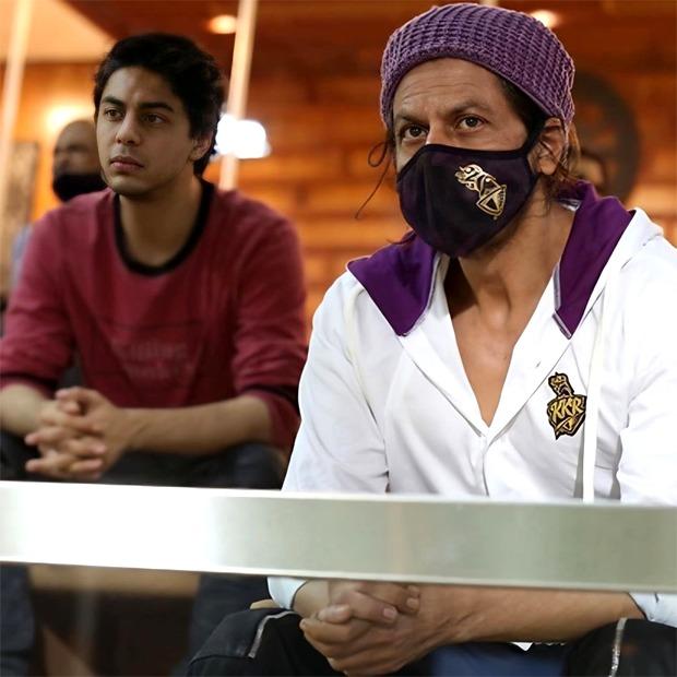 Shah Rukh Khan and Aryan Khan spotted watching IPL match in Dubai as Royal Challengers Bangalore crush Kolkata Knight Riders
