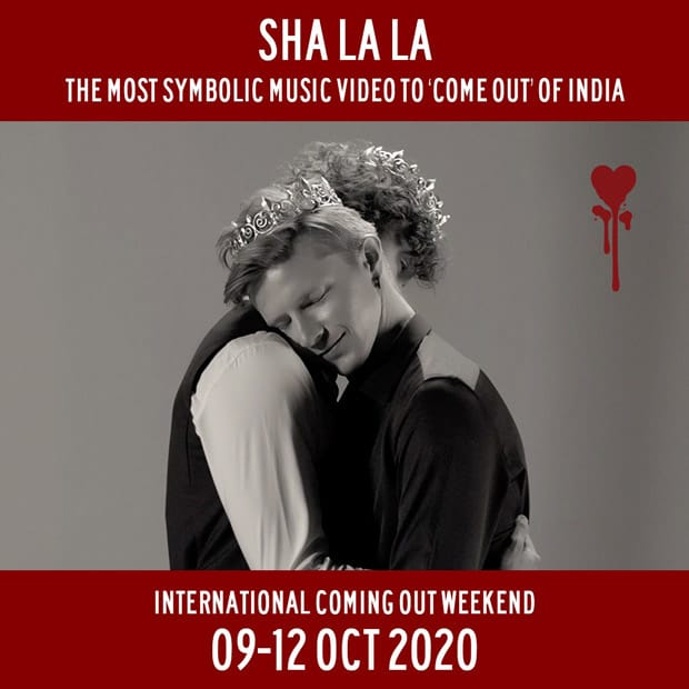 """Shayan Italia presents 'Sha La La'; the most symbolic music video to """"come out"""" of India on International Coming Out Day."""