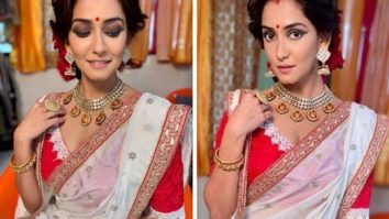 Srishti Jain dons an ethereal Bengali avatar for Hamariwali Good News