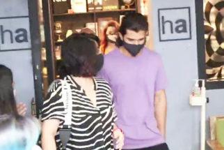 Vijay Devarkonda and Charmi Kaur spotted at Hakim Alim salon Bandra