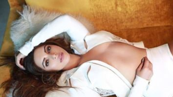 Shama Sikander looks confident as she strikes a bold pose in a white jacket and shorts