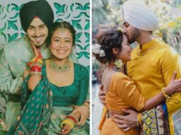 Check Out: Neha Kakkar and Rohanpreet Singh wear matching outfits for their mehendi and Haldi ceremony