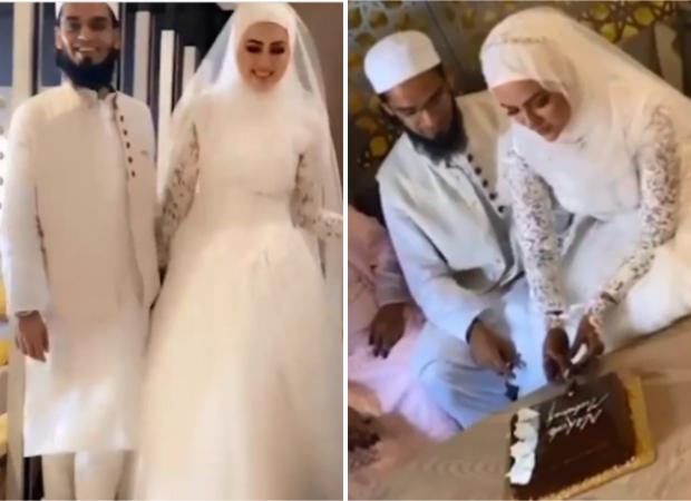 शोबिज छोड़ने के बाद, सना खान सूरत में मुफ्ती अनस से निजी समारोह में शादी करती हैं