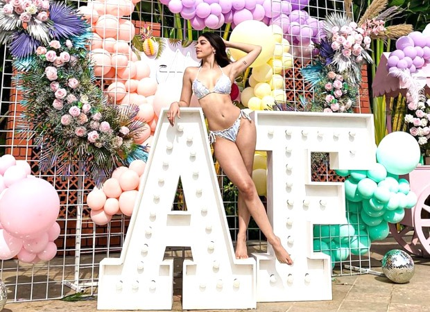 Alaya F sizzles in a bikini at her birthday getaway in Alibag