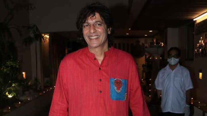 Chunky Pandey and David Dhawan spotted at Anil Kapoor's house
