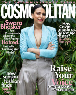Swara Bhaskar On The Covers Of Cosmopolitan